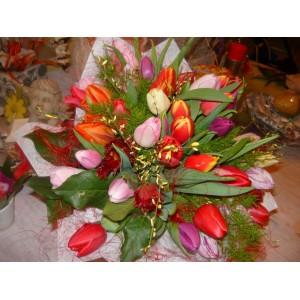 Bukiet z tulipanów.