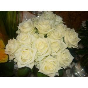 Elegancki bukiet z białych róż