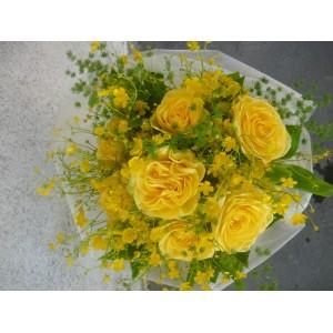 Romantyczny bukiet z żółtych róż