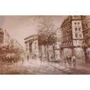 Paryż jesienią w tonacji czarno-białej
